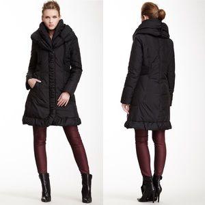 Elie Tahari Mariana Down Puffer Coat XS Black